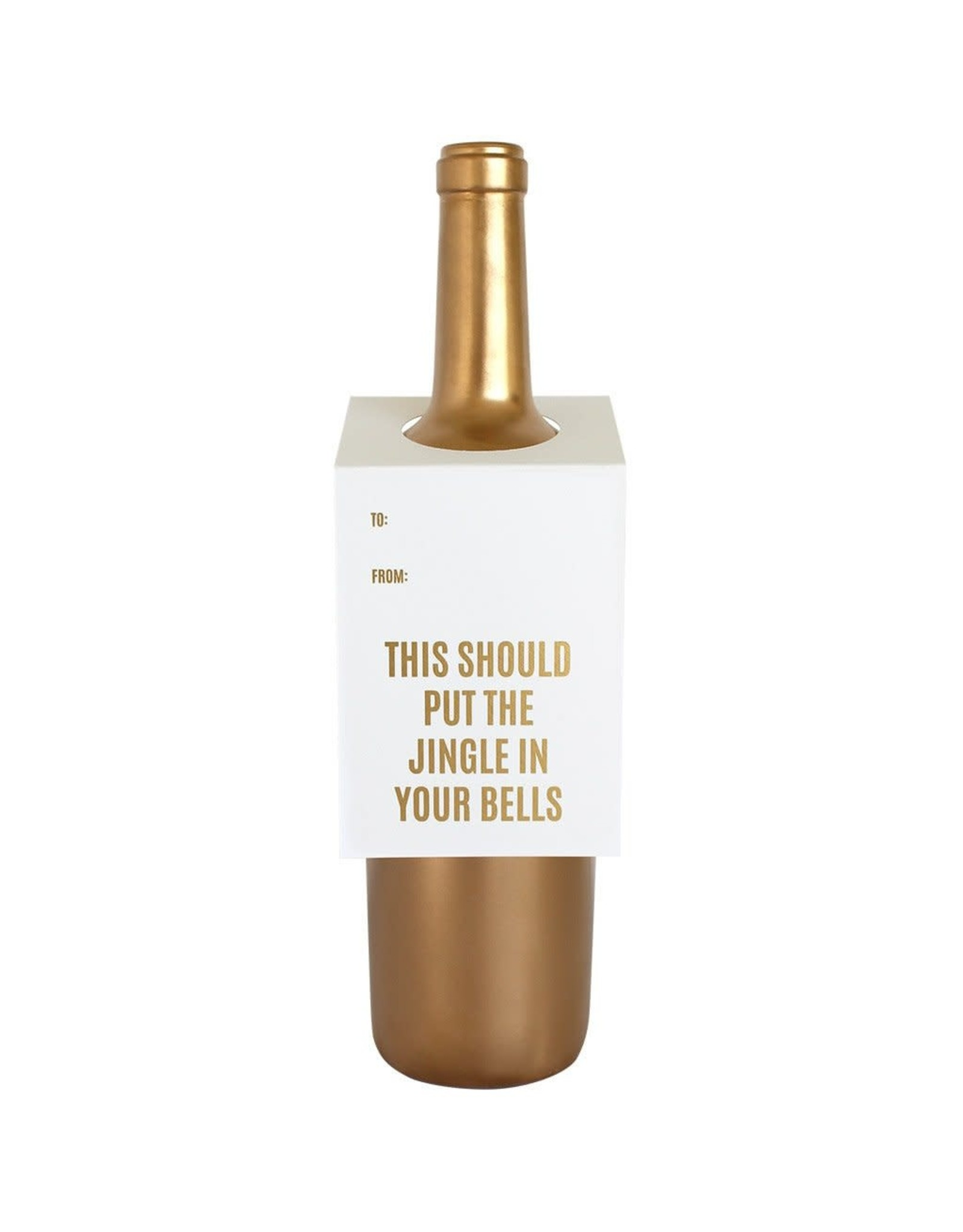 Chez Gagne Jingle In Your Bells - Wine & Spirit Tag