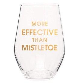 Chez Gagne More Effective Than Mistletoe - Wine Glass