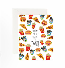 Jaybee Designs Congrats You're Eating For Two  - Card