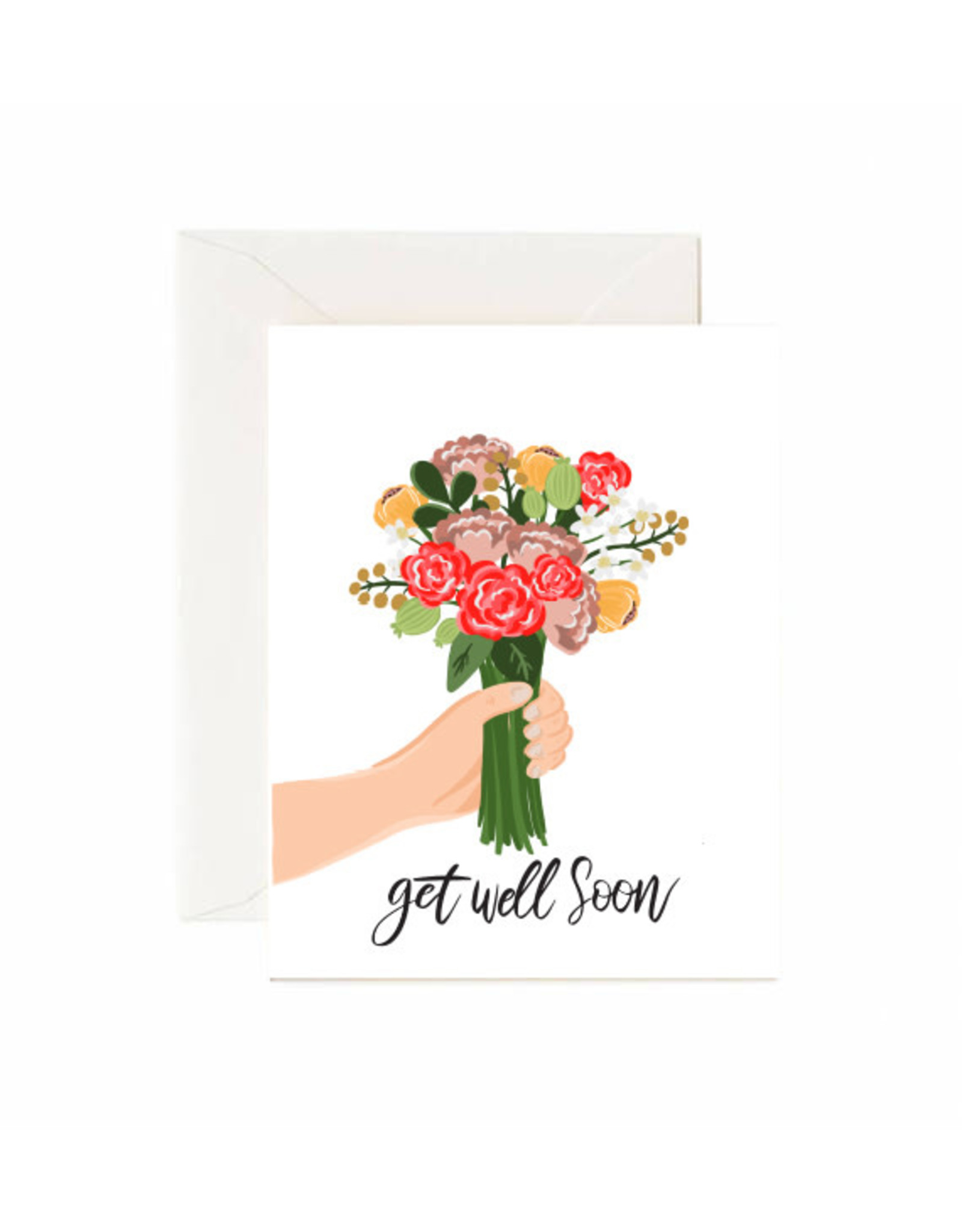 Jaybee Designs Get Well Soon Flowers  - Card