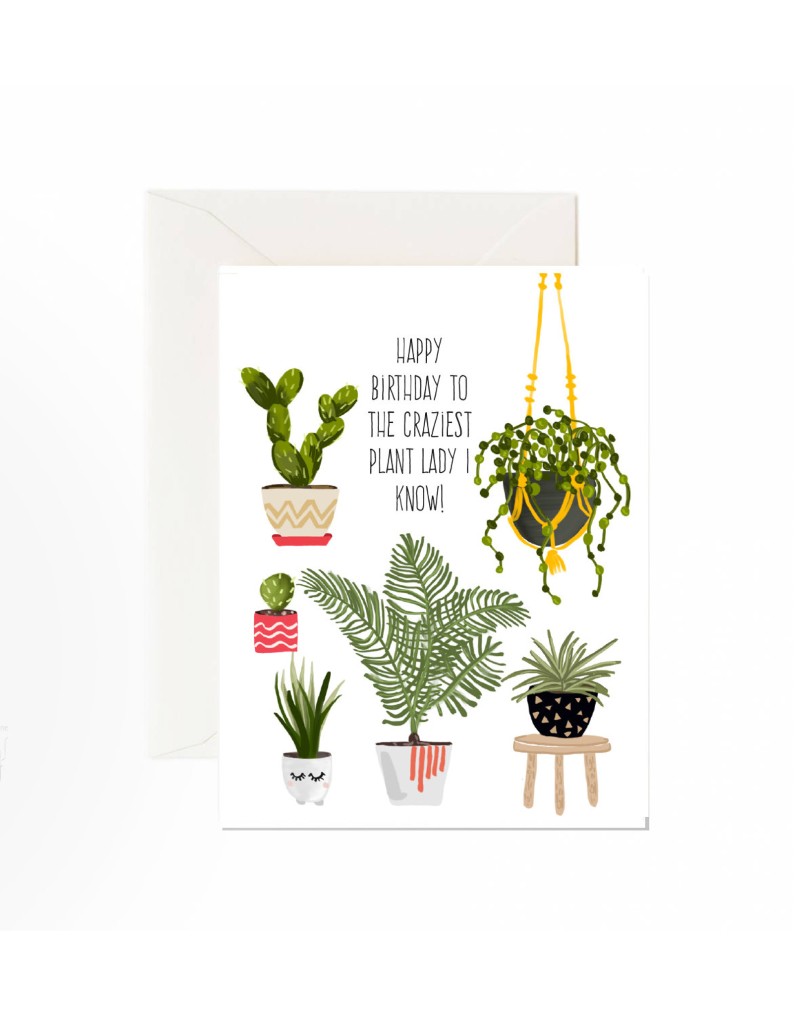 Jaybee Designs Happy Birthday To The Craziest Plant  - Card