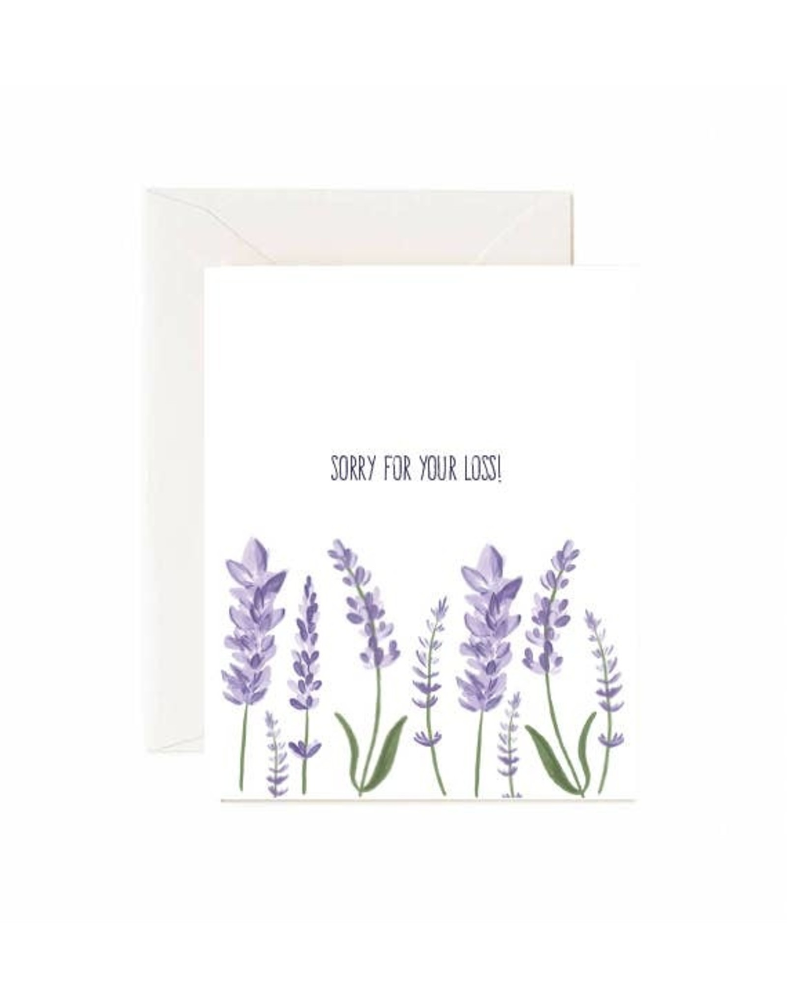 """Jaybee Designs Lavender """"Sorry For Your Loss""""  - Card"""