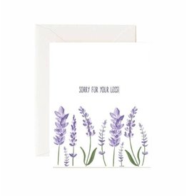 "Jaybee Designs Lavender ""Sorry For Your Loss""  - Card"