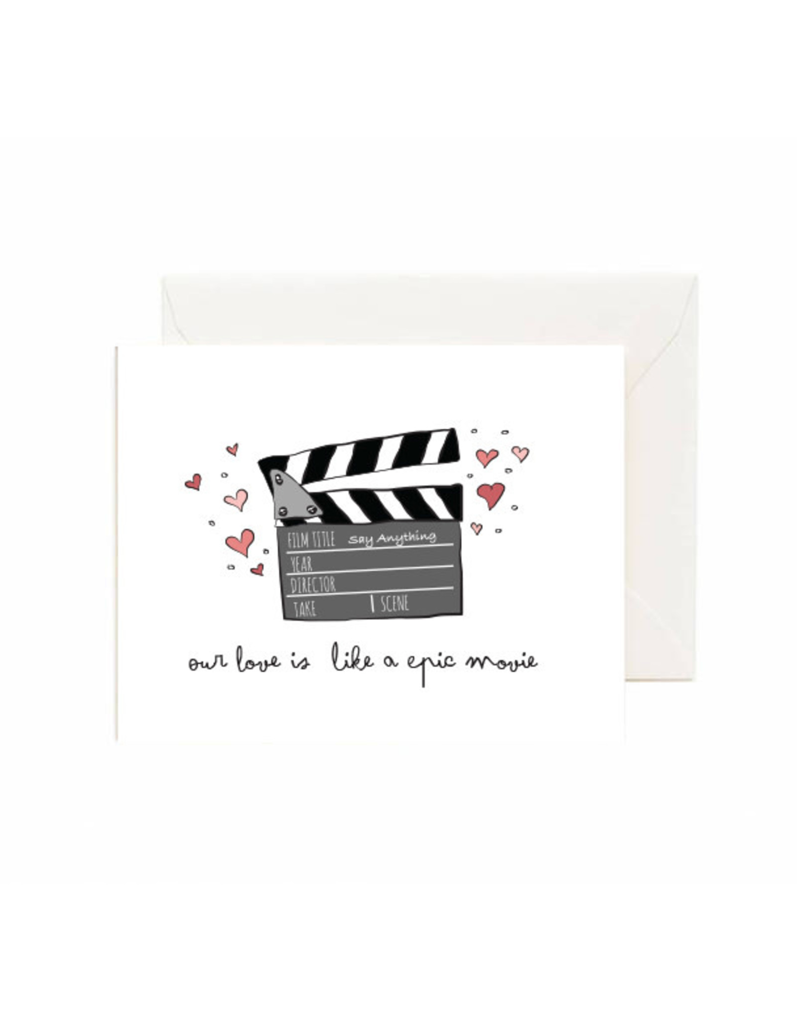 Jaybee Designs Love Is Like A Epic Movie  - Card