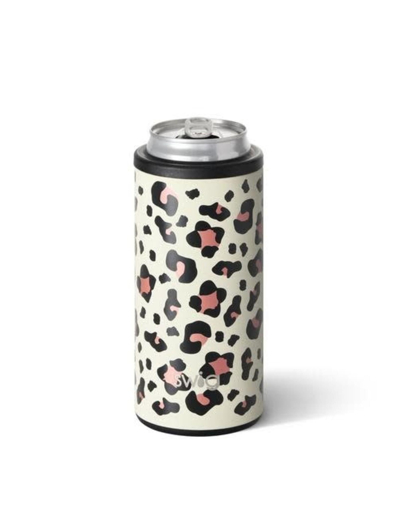 Swig 12 oz Skinny Can Cooler - Luxy Leopard