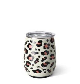 Swig 14 oz Stemless Wine Cup - Luxy Leopard