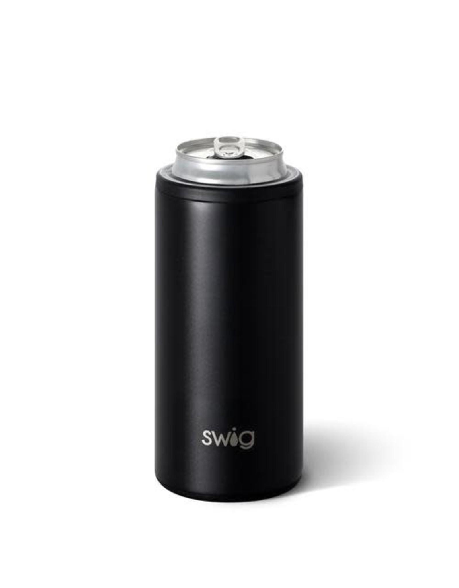 Swig 12 oz Skinny Can Cooler - Matte Black