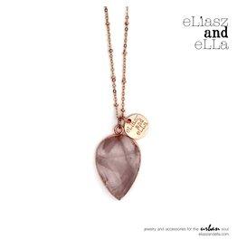"""eLiasz and eLLa """"Astonish"""" Rose Quartz Necklace"""