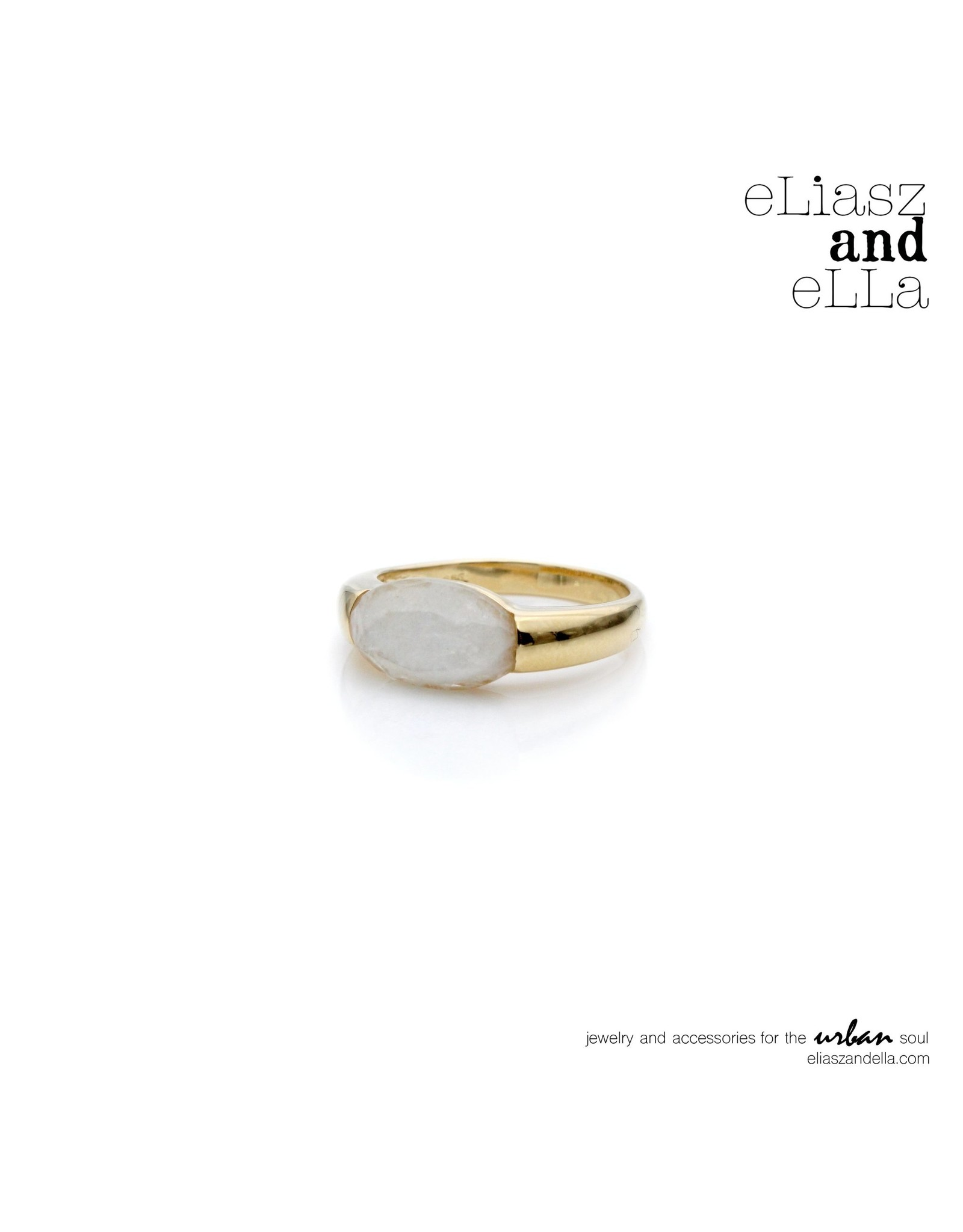 "eLiasz and eLLa ""Fresco"" Ring in Moonstone"