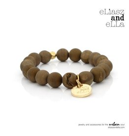 "eLiasz and eLLa ""Gold Stone"" Matte Stone Bangin' Bracelet"