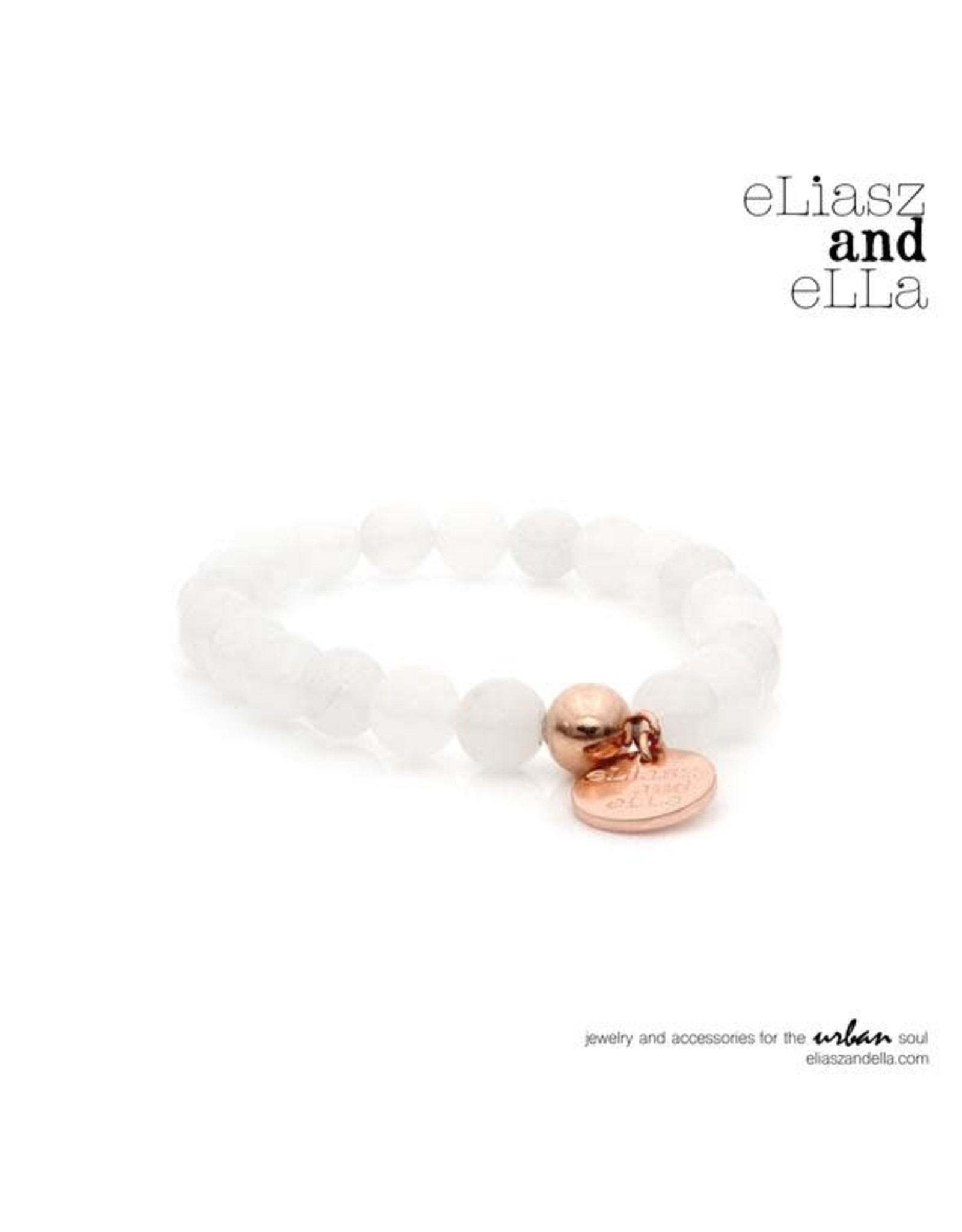"eLiasz and eLLa ""Ice Quartz"" Stone Bangin Bracelet"