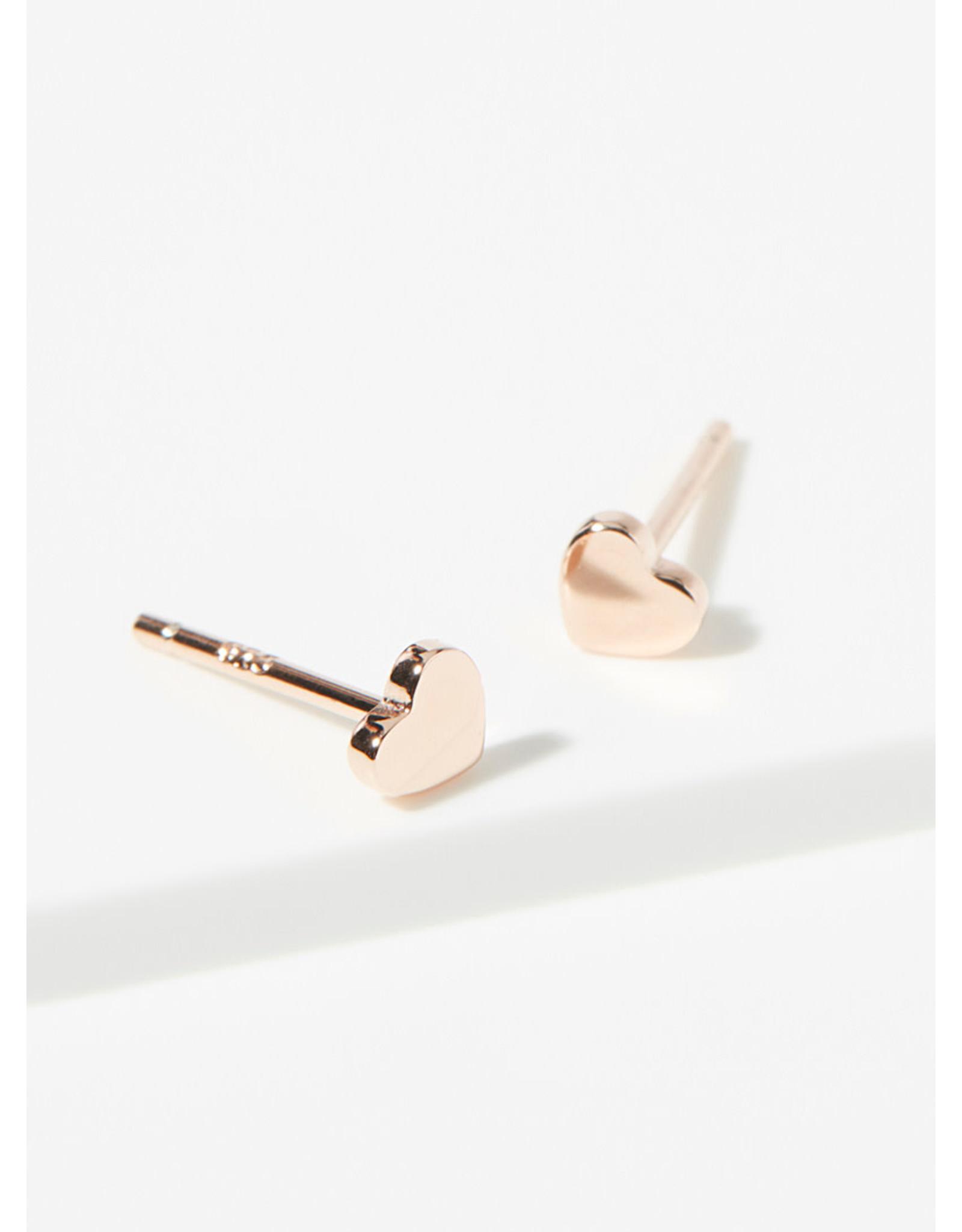 "eLiasz and eLLa ""Little Hearts"" Rose Gold Earrings"