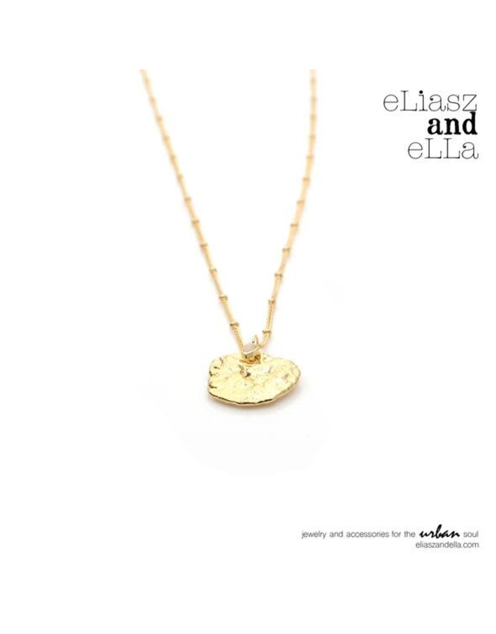 "eLiasz and eLLa ""Miel"" Gold Necklace"