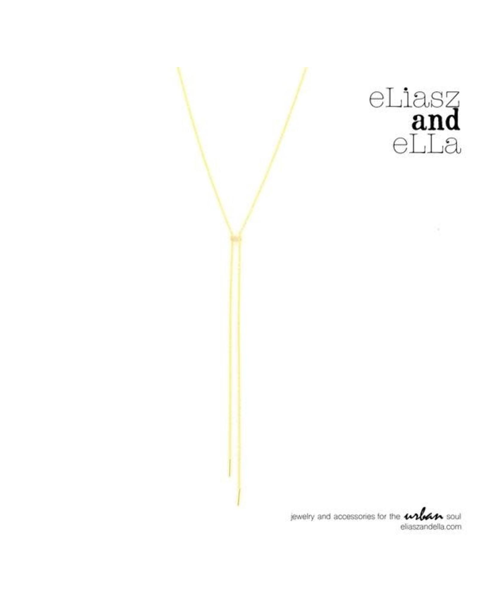 """eLiasz and eLLa """"Palisade"""" Necklace in Gold"""