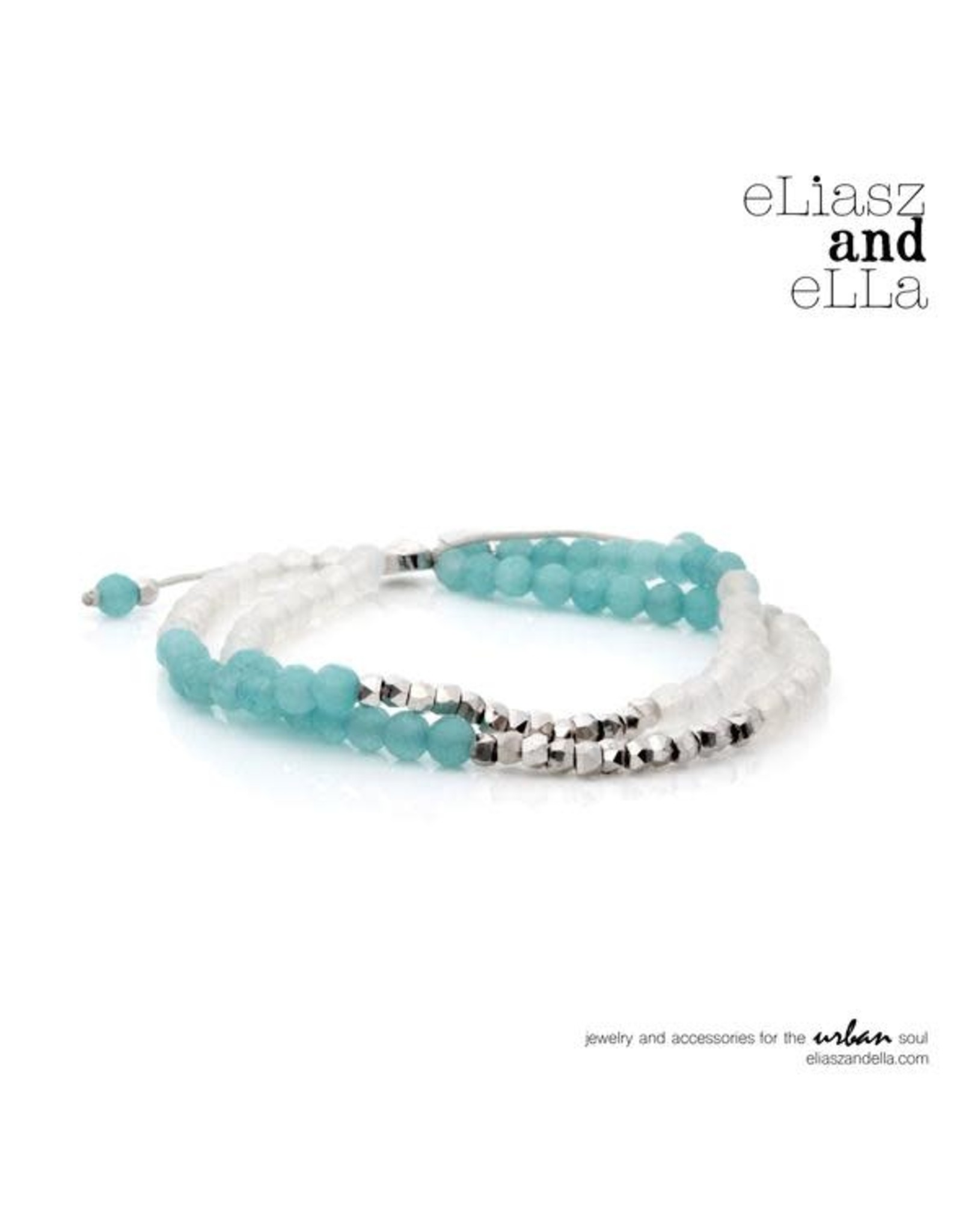"""eLiasz and eLLa """"Sea Breeze"""" Mixbead Stone Bangin' Bracelet"""
