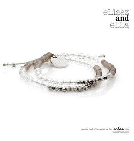"""eLiasz and eLLa """"Silver Sun"""" Mixbead Stone Bangin' Bracelet"""
