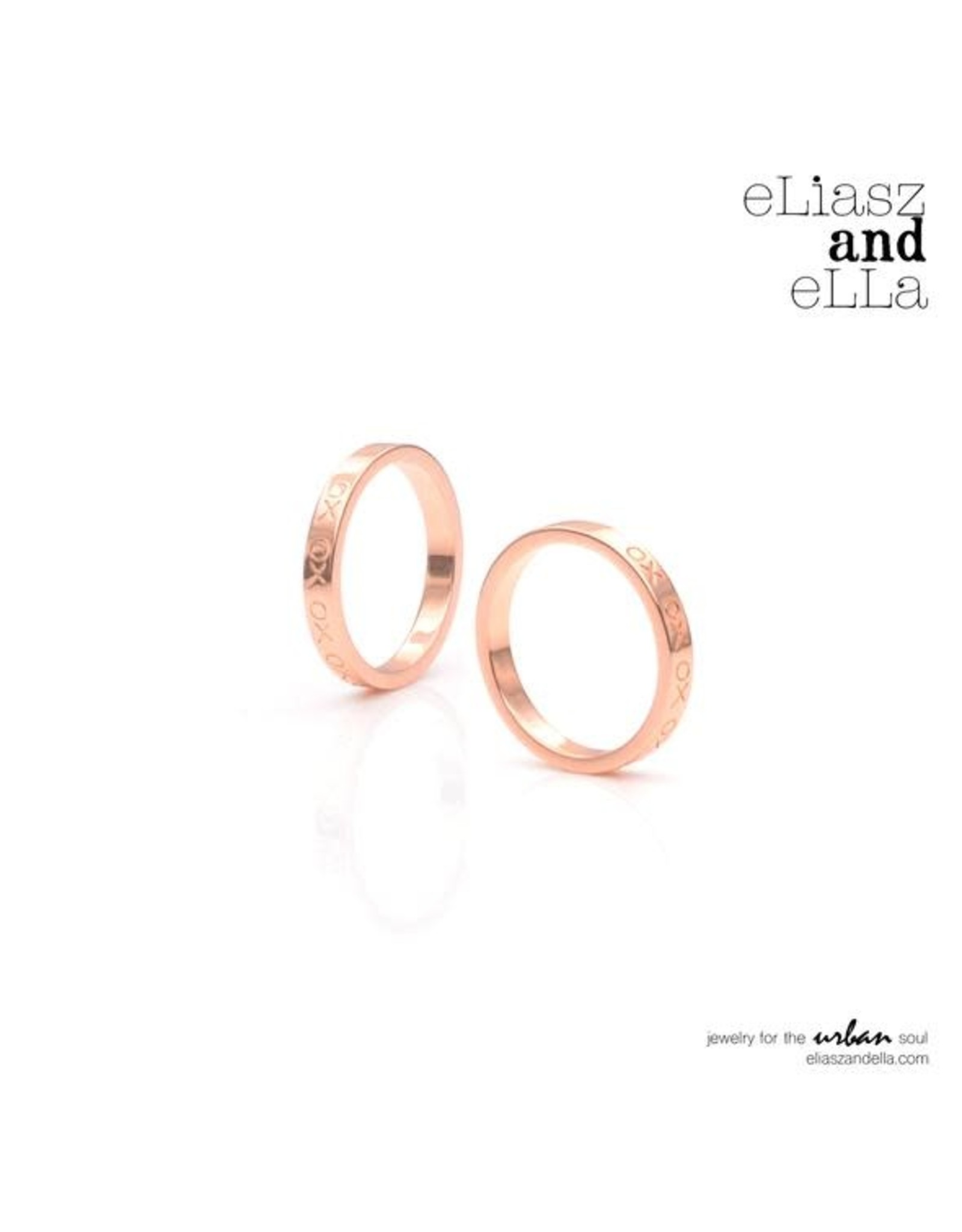 "eLiasz and eLLa ""XO"" ROSE GOLD RING"