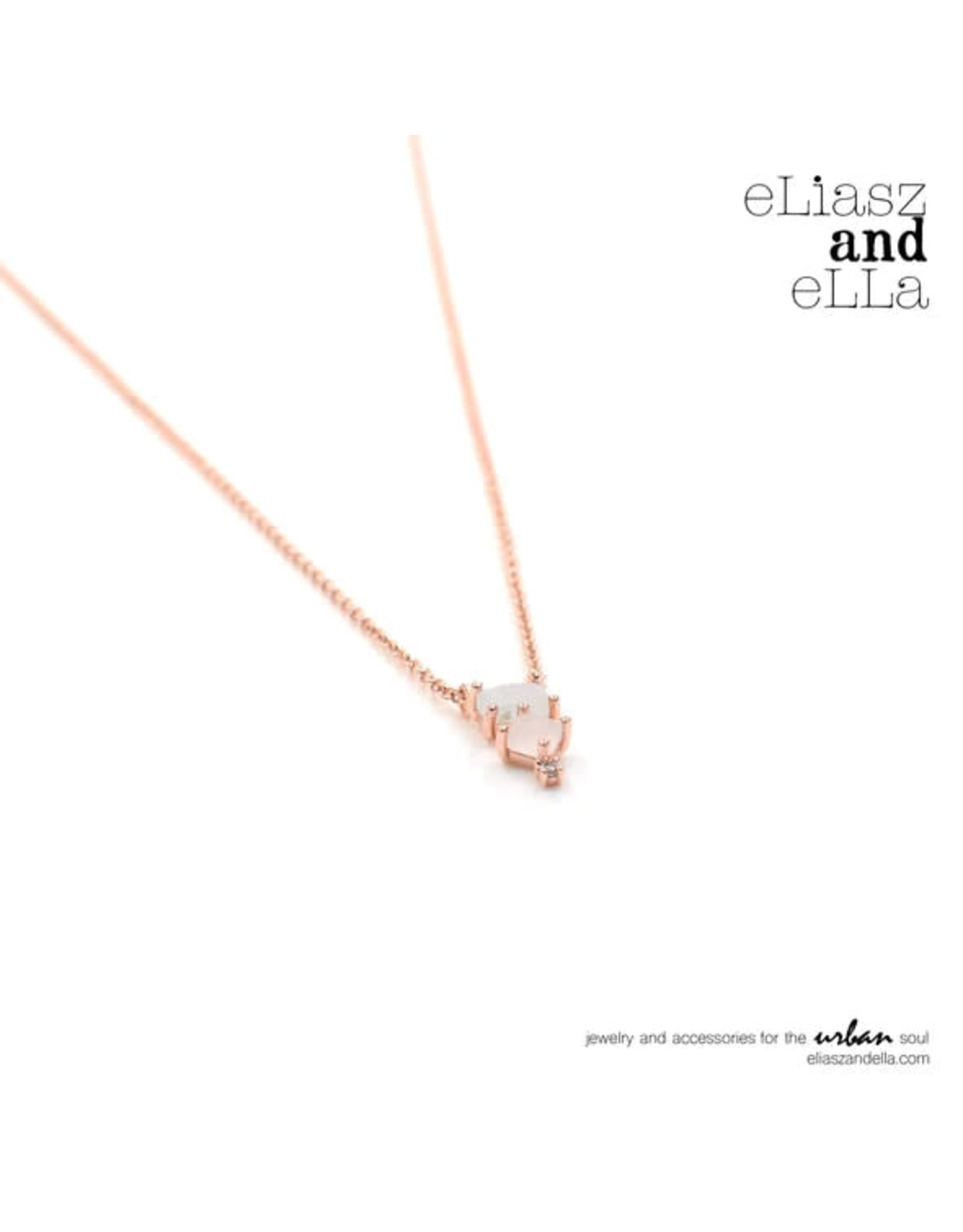 "eLiasz and eLLa ""Enchanting"" Rose Gold Necklace"