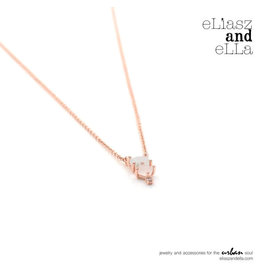"eLiasz and eLLa ""Enchanting"" Rose Gold Necklace"