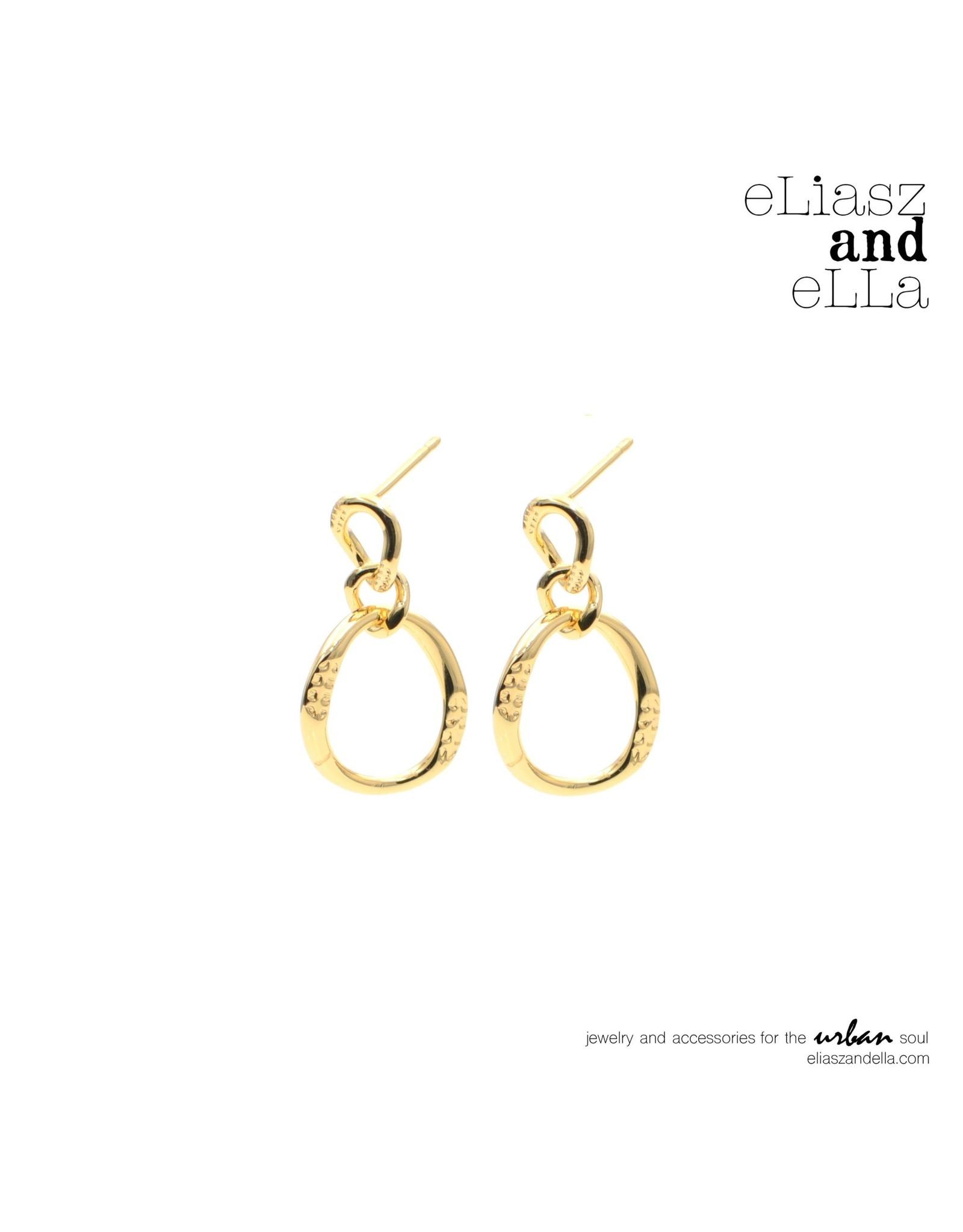 """eLiasz and eLLa """"Golden Loop"""" Hoop Earrings"""
