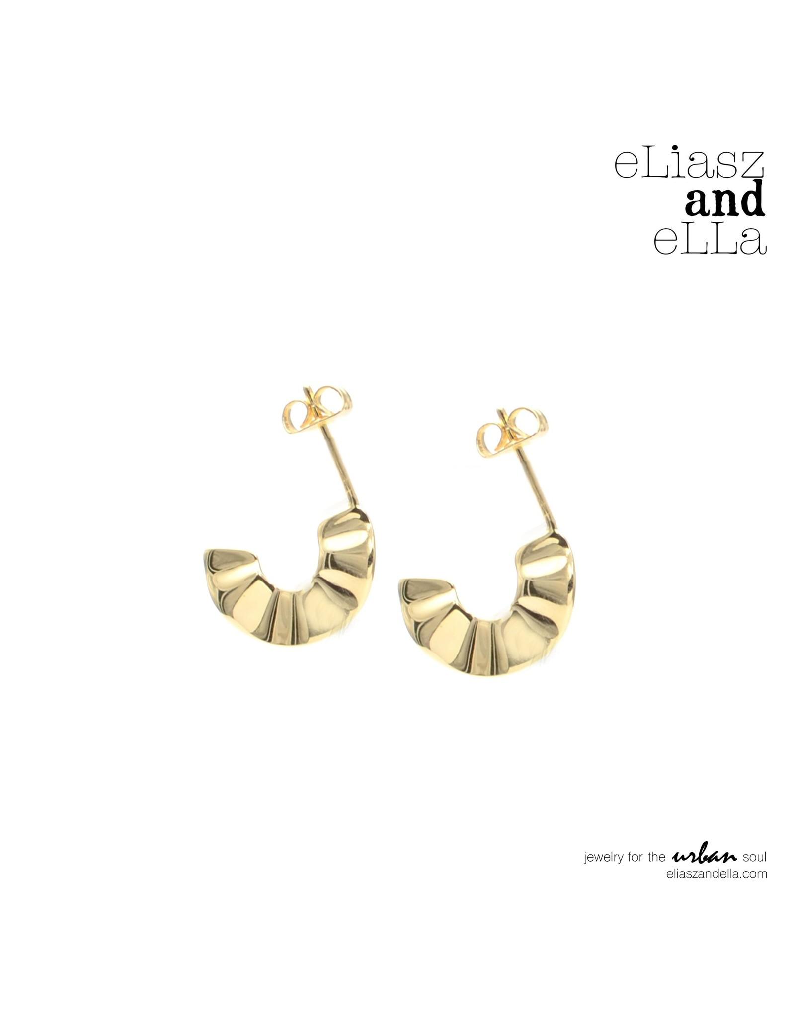 "eLiasz and eLLa ""Ruffle"" Hoop Earrings"