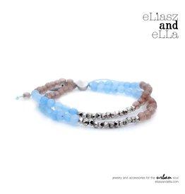 """eLiasz and eLLa """"Blue Sky"""" Mixbead Stone Bangin' Bracelet"""