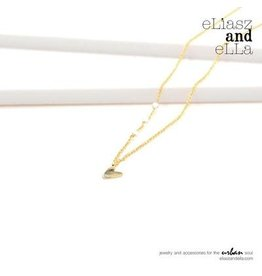 "eLiasz and eLLa Gold ""Little Heart"" Necklace"
