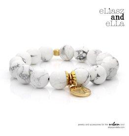"""eLiasz and eLLa Gold """"Marble"""" Stone Bangin' Bracelet"""