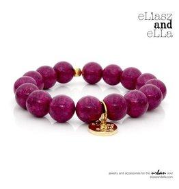 "eLiasz and eLLa Gold ""Purple River"" Stone Bangin' Bracelet"