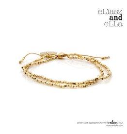"eLiasz and eLLa Gold ""Tiny"" Beaded Bangin' Bracelet"