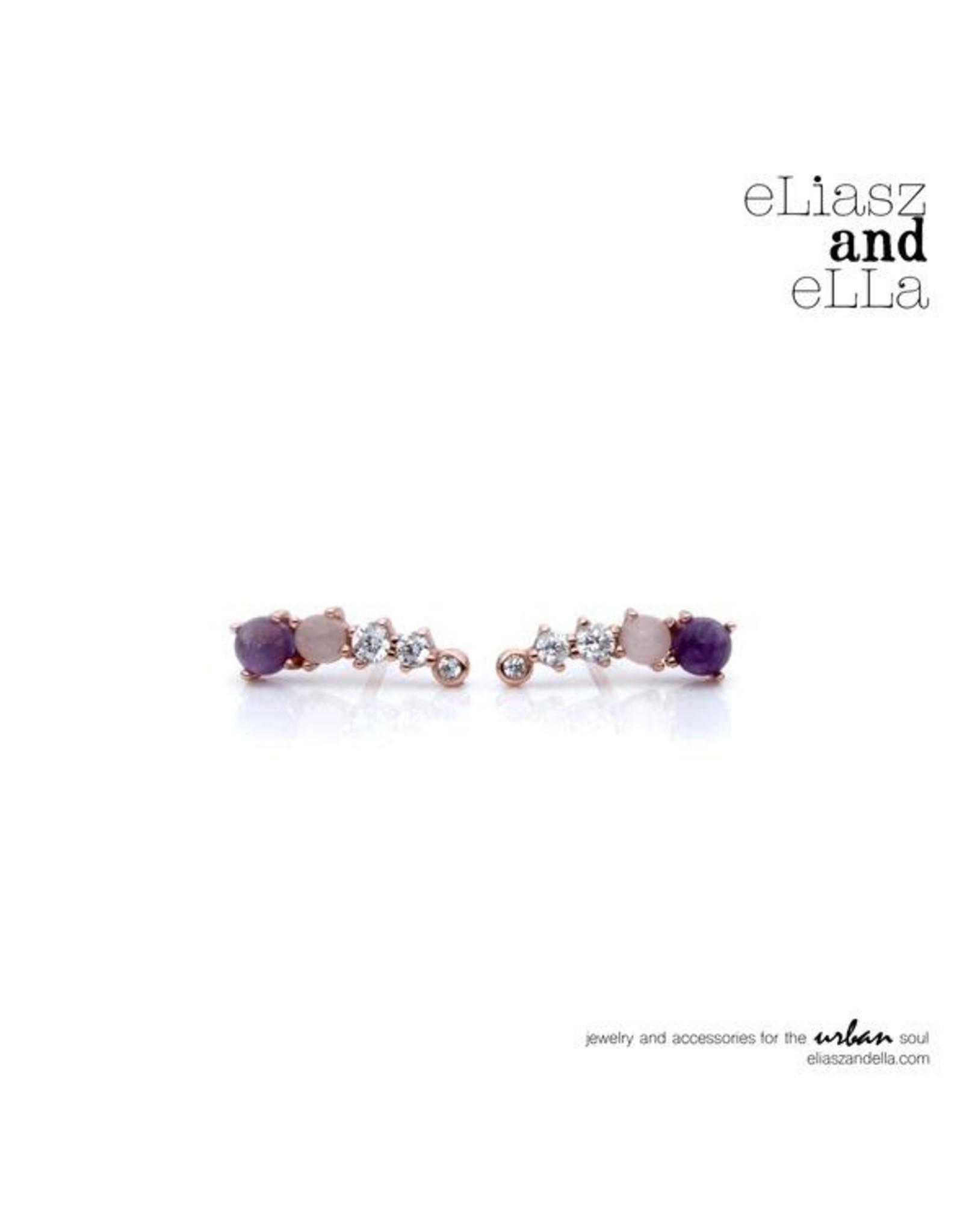 eLiasz and eLLa Lilac ''Angele'' Earrings