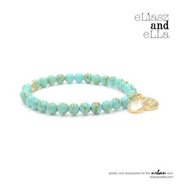 "eLiasz and eLLa Mini ""Peacock"" Stone Bangin' Bracelet"