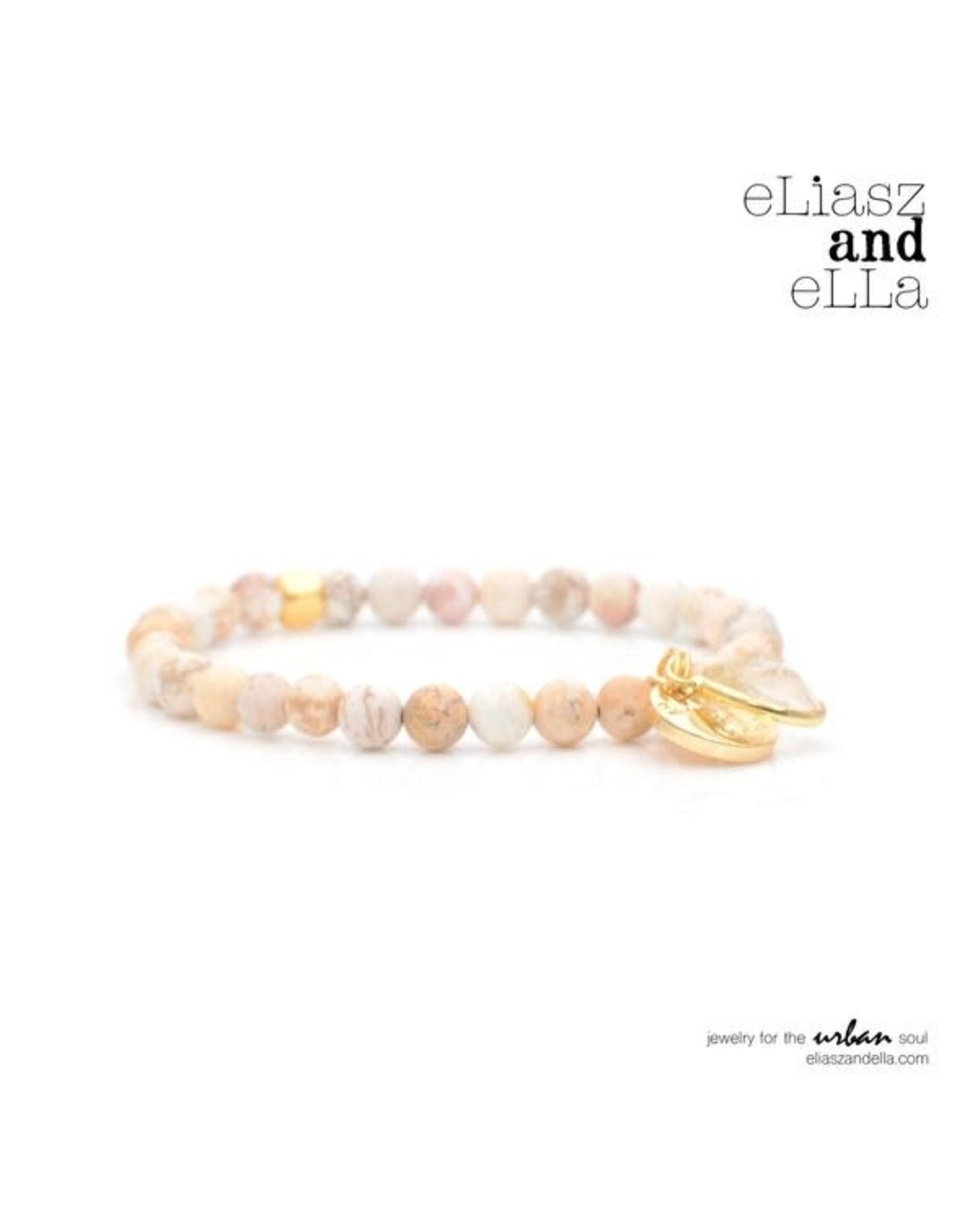 "eLiasz and eLLa Mini ""Pecan"" Stone Bangin' Bracelet"