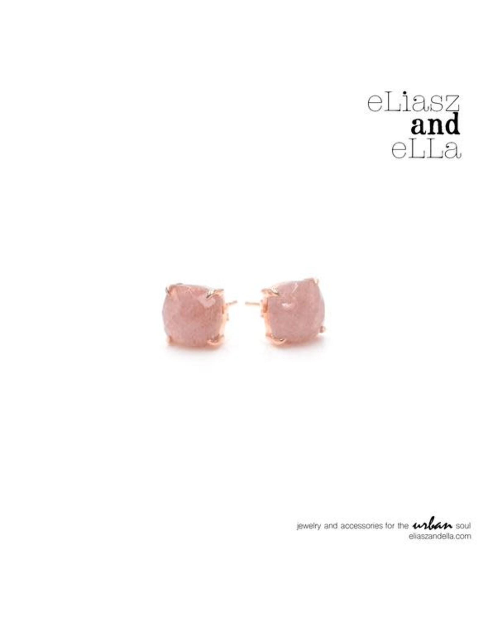 "eLiasz and eLLa ""Reine"" Strawberry Agate Earrings"