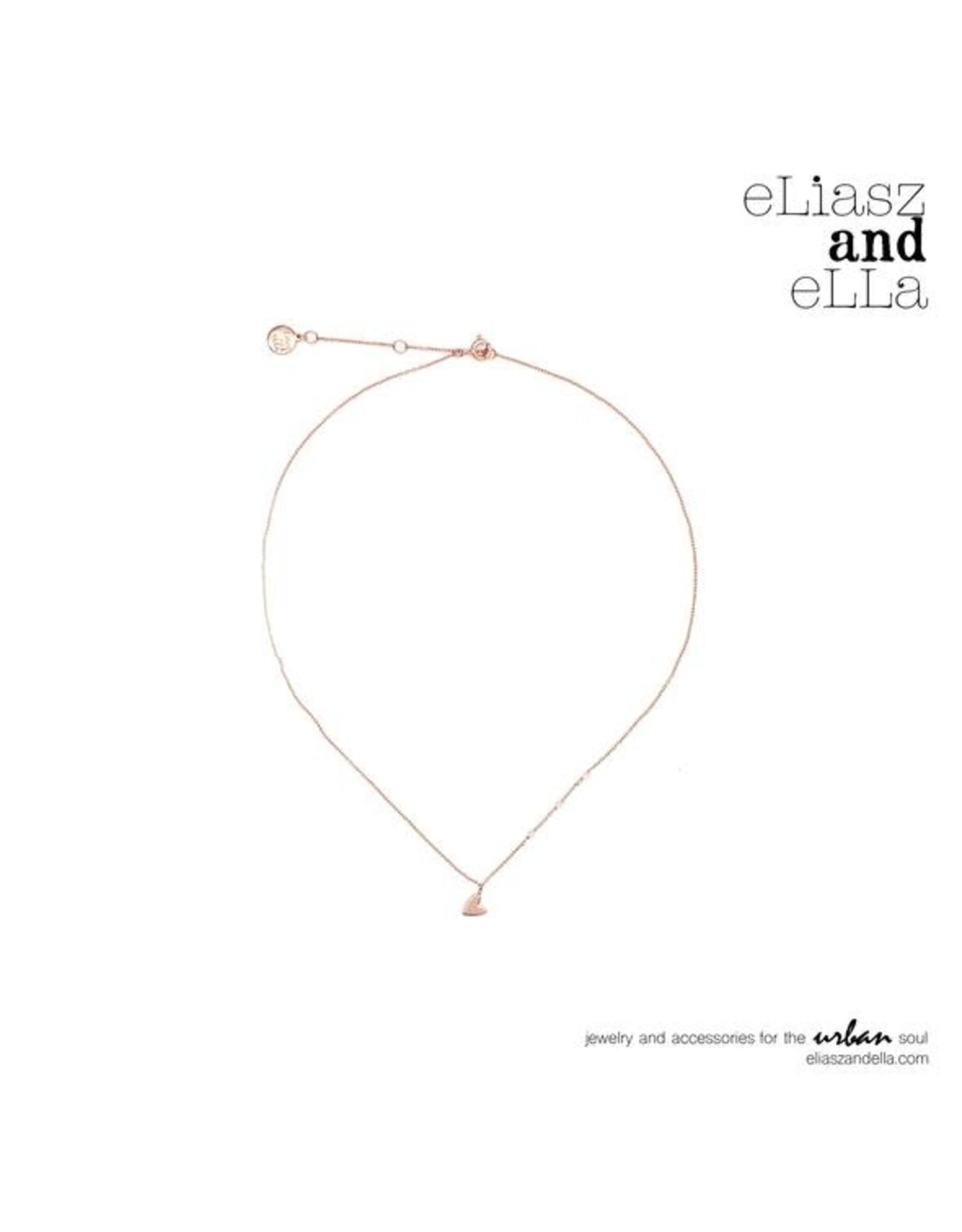 "eLiasz and eLLa Rose Gold ""Little Heart"" Necklace"