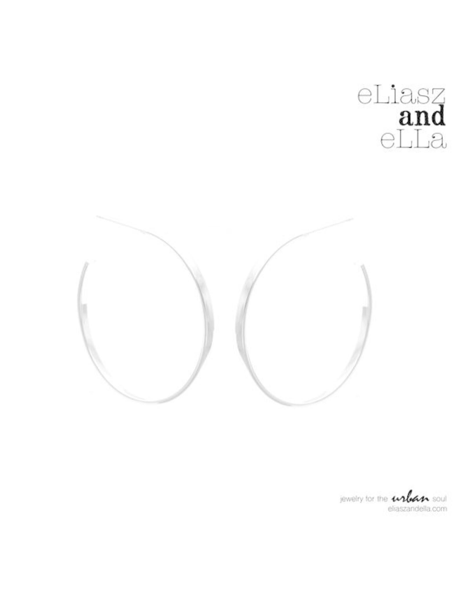 "eLiasz and eLLa Silver ""Classic"" Hoops 2.0 Earrings"