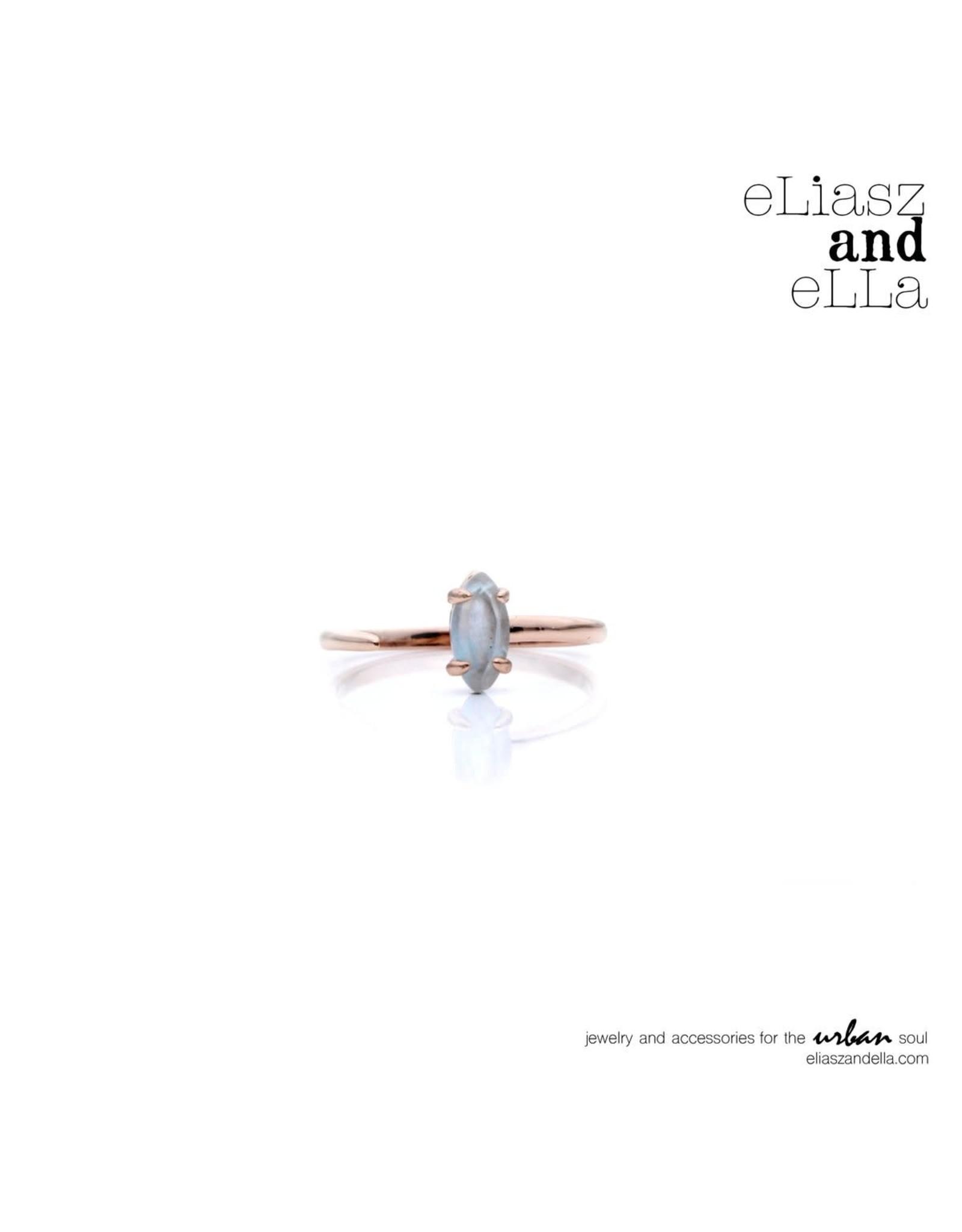 """eLiasz and eLLa """"Stream"""" Ring - Aquamarine"""