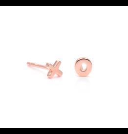 "eLiasz and eLLa ""XO"" Rose Gold Earrings"