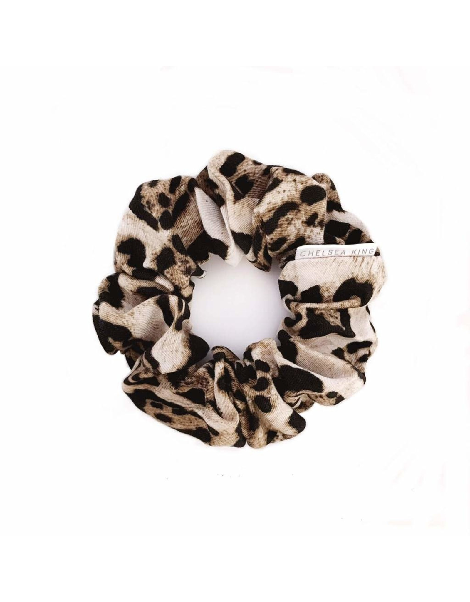 Chelsea King Vangogh Leopard Scrunchie