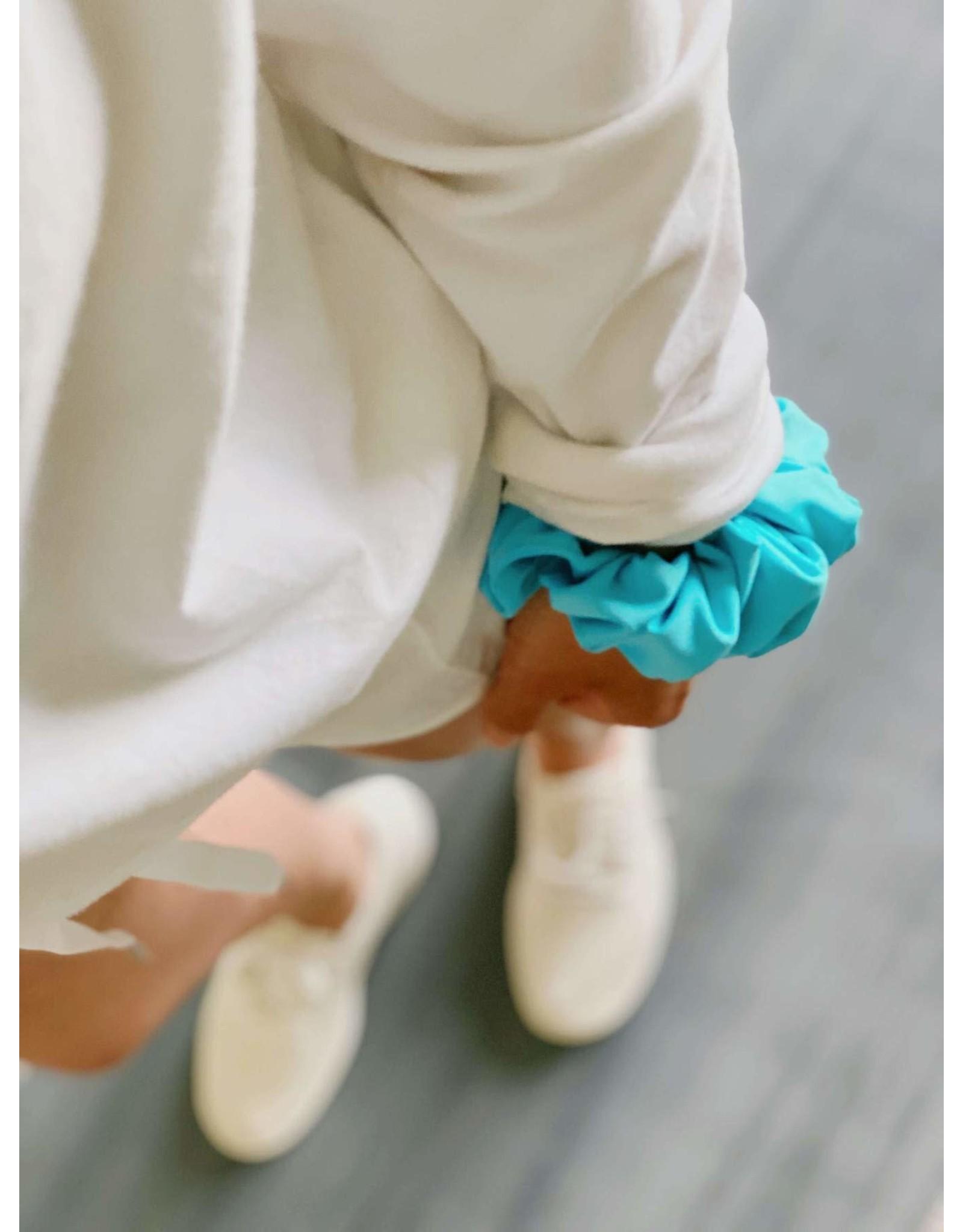 Chelsea King Active Antibacterial Blue Curacao Scrunchie
