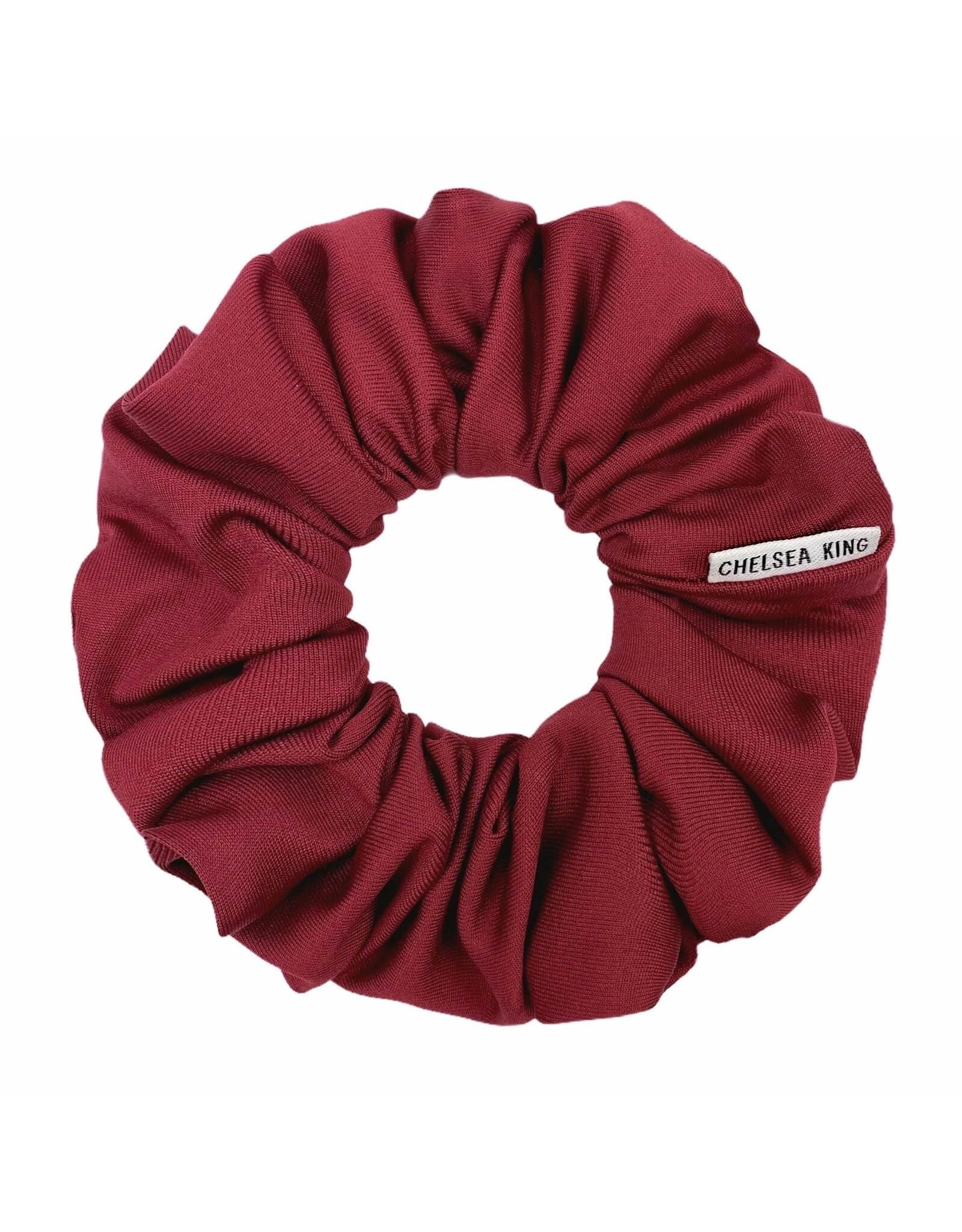 Chelsea King Active Antibacterial Ruby Wine Scrunchie