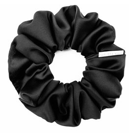 Chelsea King Eco Satin Sleep Black Scrunchie