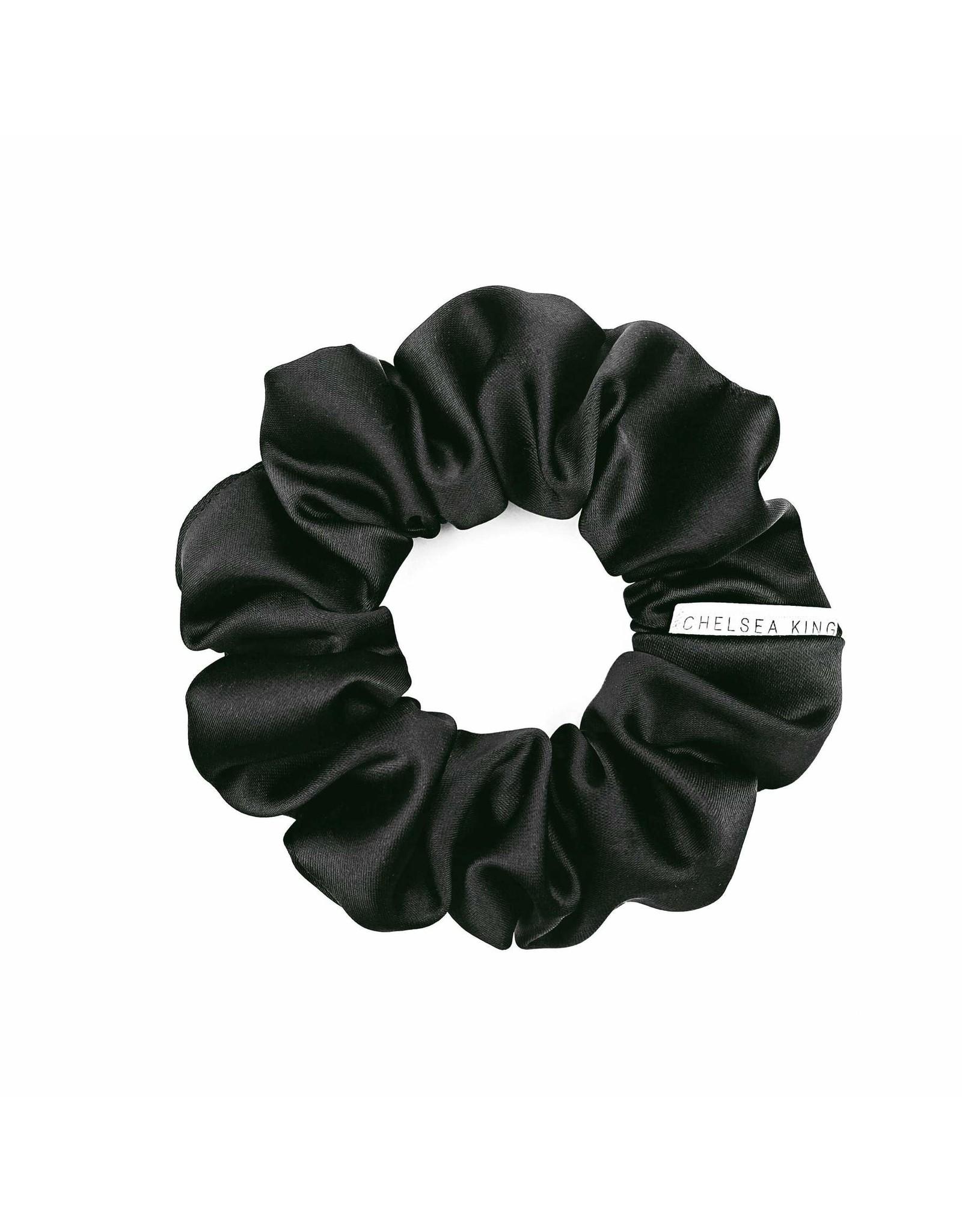 Chelsea King Eco Satin Sleep Black Scrunchie