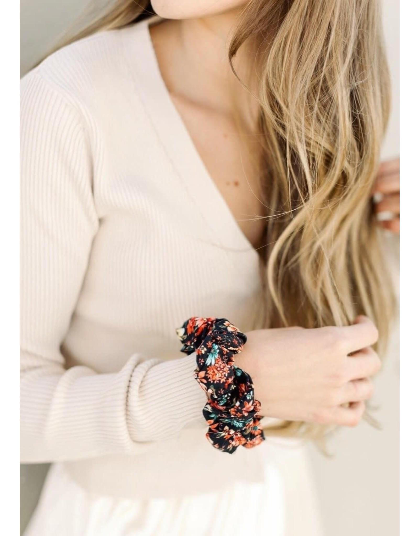 Chelsea King Floral Folk Scrunchie