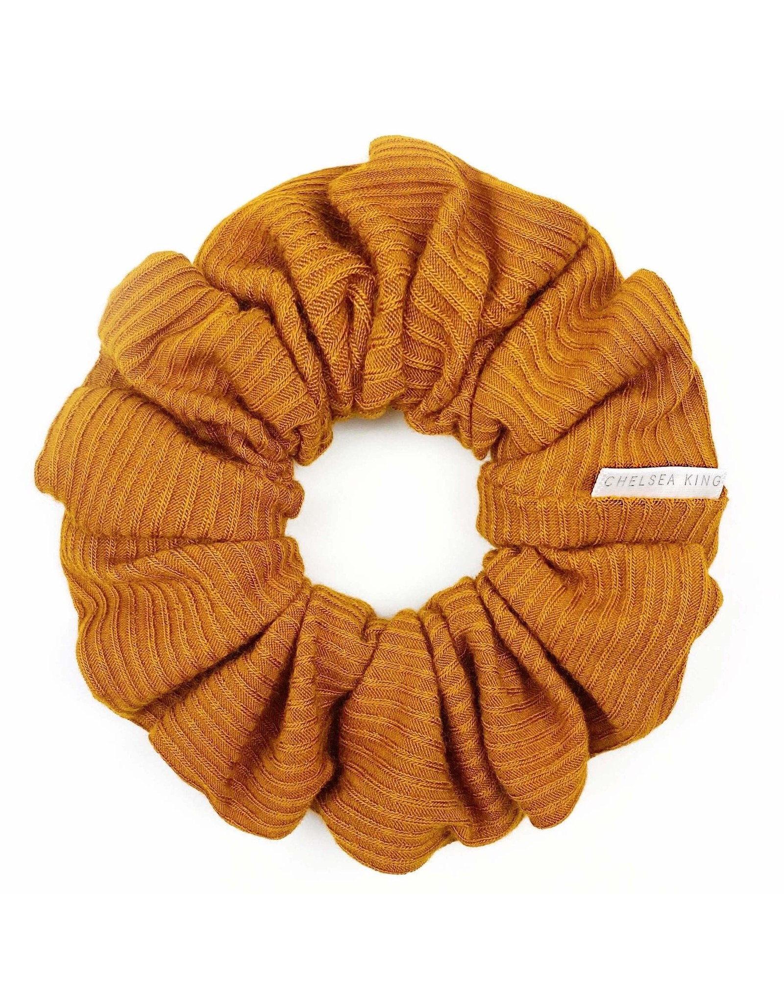 Chelsea King French Ribbed Caramel Scrunchie