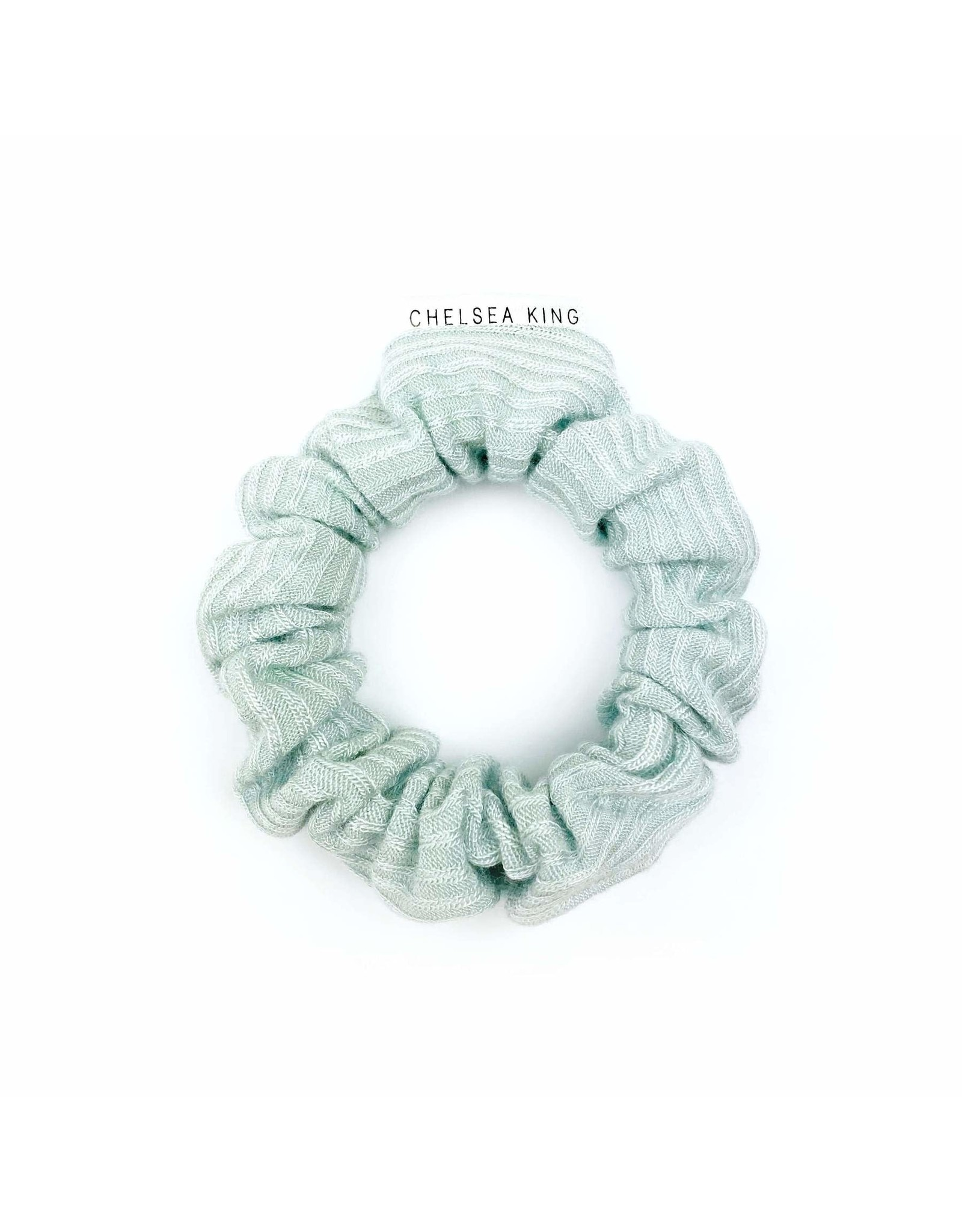 Chelsea King French Ribbed Mint Blue Scrunchie