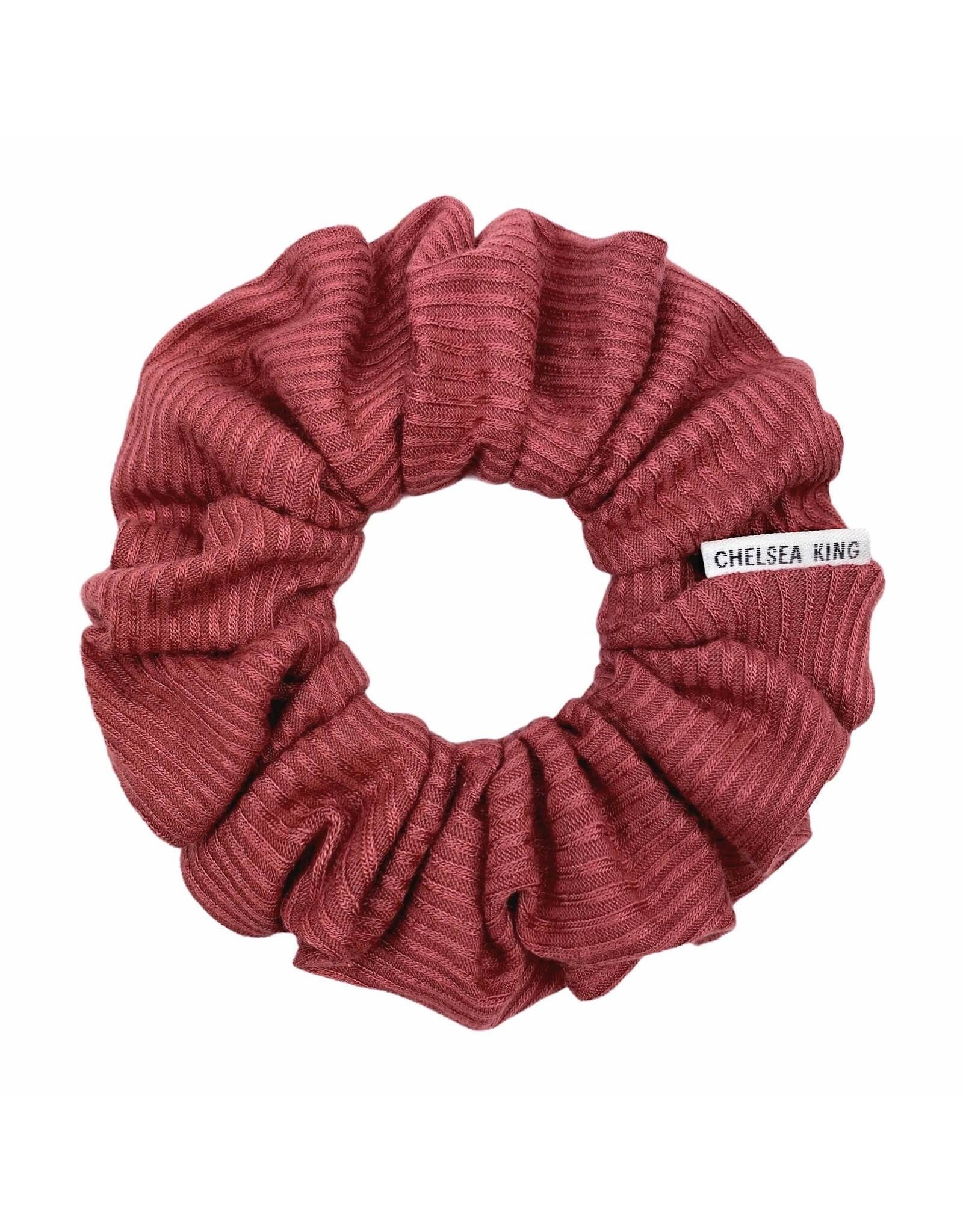 Chelsea King French Ribbed Mulberry Scrunchie
