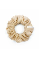 Chelsea King French Ribbed Nude Blush Scrunchie
