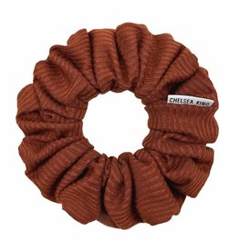 Chelsea King French Ribbed Pecan Scrunchie