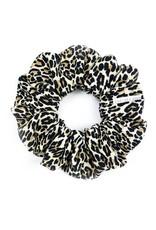 Chelsea King Natural Leopard Scrunchie